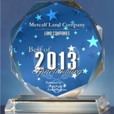 Metcalf Land Company Receives 2013 Best of Spartanburg Award