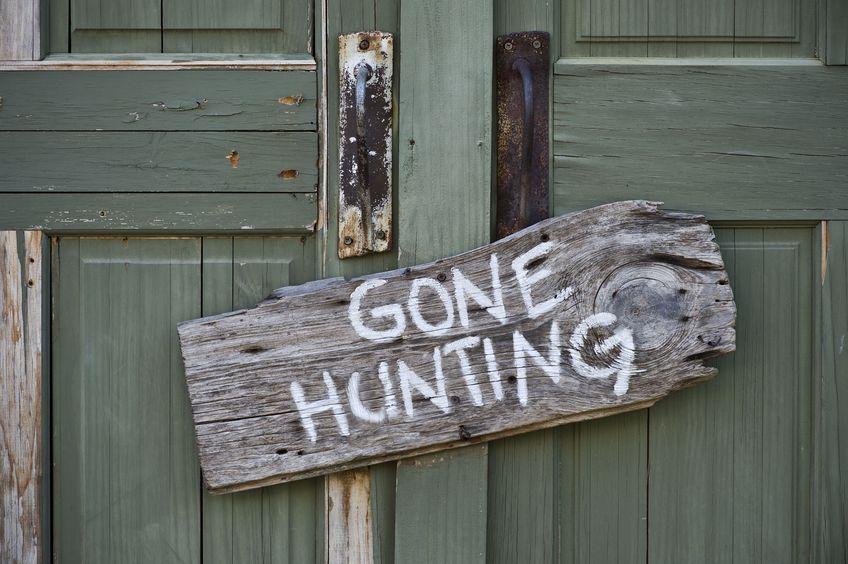 gone hunting sign